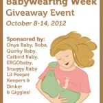 CLOSED Giveaway: International Babywearing Week ($733 of prizes, eight winners)