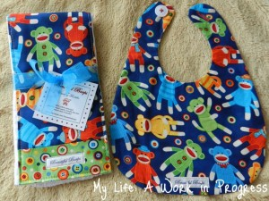 Bib & Burp Cloth set- Front