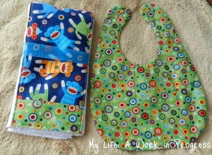 Bib & Burp Cloth set- Back