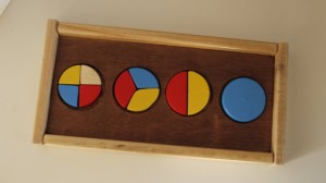 Handcrafted Wooden Fractions Puzzle (Photo by Barry's Toys)