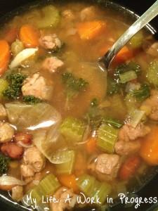 Homeade Beef Lentil Veggie Soup