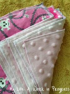 Zookies Crafts2 225x300 Review: Cotton and minky backed cloth wipes by Zookiescrafts