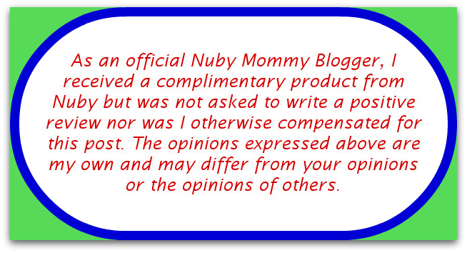 Nuby Mommy Blogger Disclaimer Review: Nuby Sure Grip Bowl and Feeding Spoons