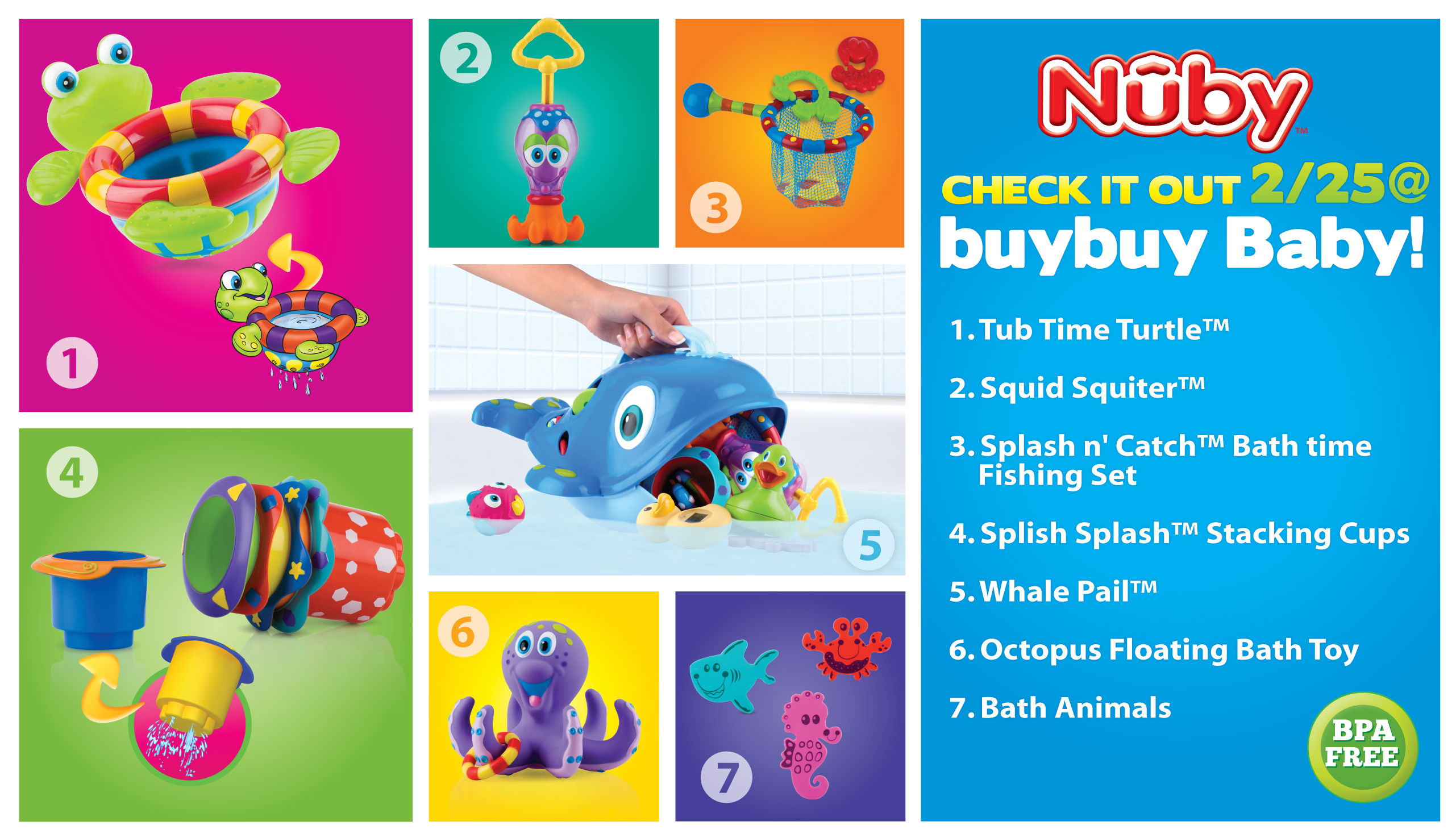 Nuby bathtime buybuybaby 2 Win Nuby baby products!