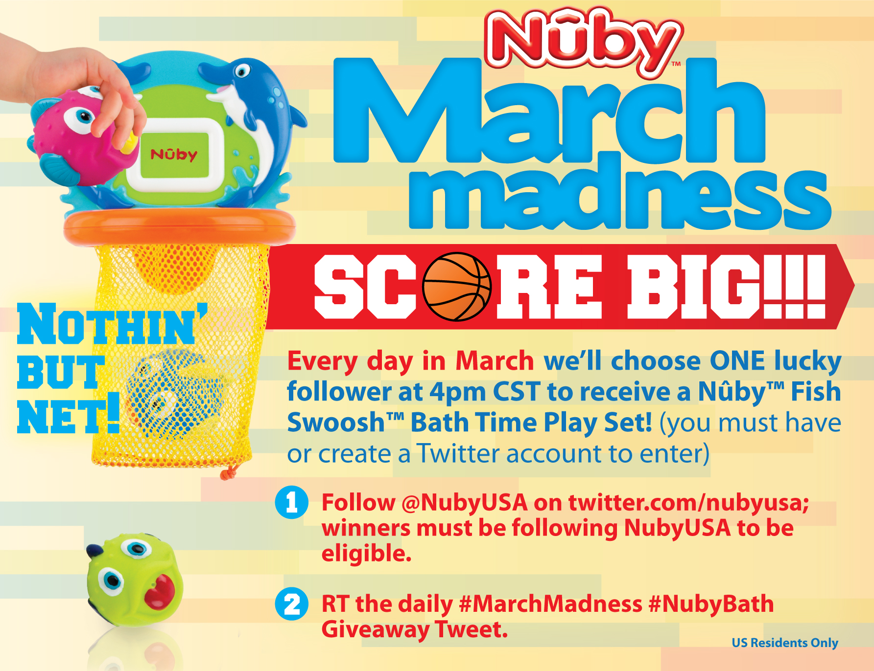 Nuby marchmadness twitter Win Nuby baby products!