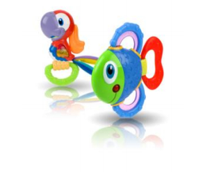 Nuby Tropical Teether Pals Fish and Parrot