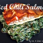 Red Chili Salmon and Coconut Creamed Spinach