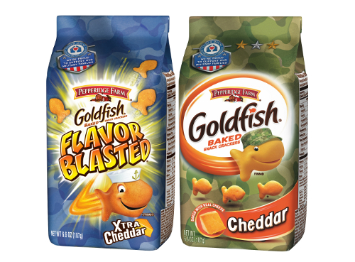 Military Goldfish The Fisher House Foundation partners with Goldfish crackers