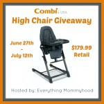 Giveaway: Combi High Chair 6/27-7/12