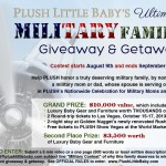 Giveaway: Nominate a #military family to win $10,000 in prizes- Baby gear & furniture, and trip to Vegas. Ends Sept. 6