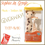 Giveaway: Sophie la Girafe Plush & Teether Set Giveaway, 7/27-8/10