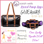 Giveaway: Sarah Wells Breast Pump Bag, 8/19-9/2 (US only)