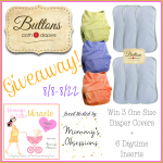 Giveaway: Buttons Cloth Diaper Package 8/8-22 (US only)